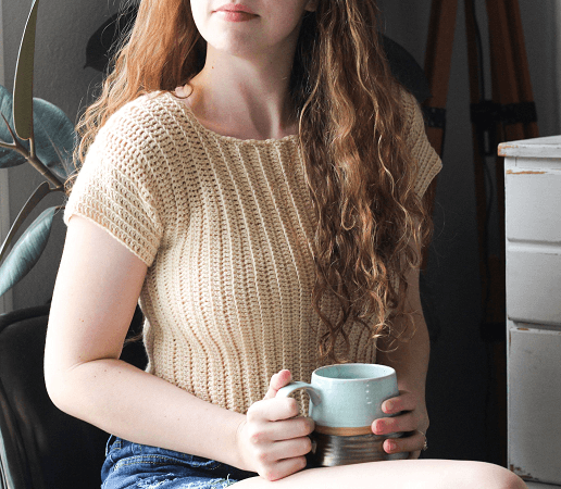 Cropped Tee Free Crochet Pattern by Hooked On Tilly Life
