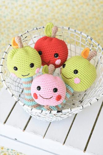 Happy Amigurumi Apple Rattle Crochet Pattern by Lilleliis