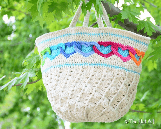 Have A Heart Tote Bag Crochet Pattern by The Hat And I