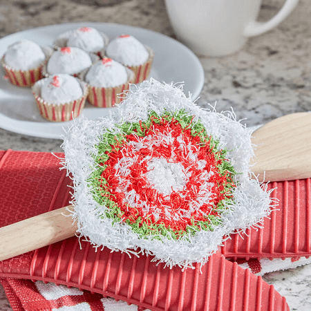 Holiday Star Scrubby Crochet Pattern by Red Heart