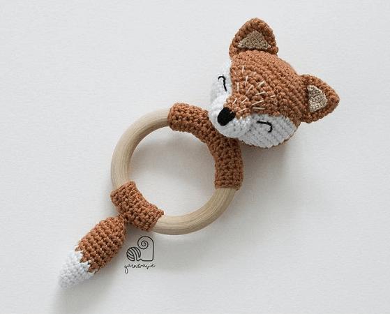 Lucy, the Fox Crochet Rattle Pattern by Yarn Wave Shop