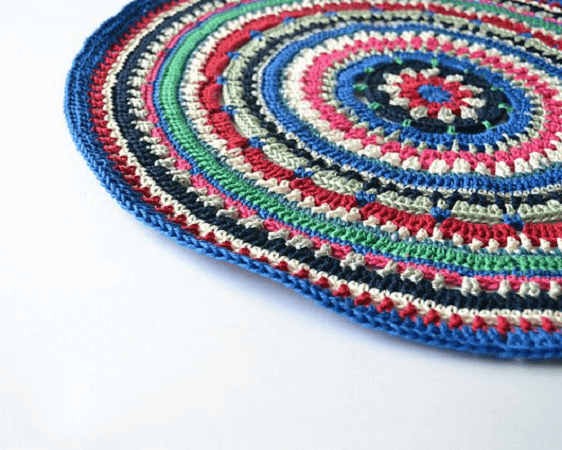 Mandala Placemat Crochet Pattern by Knitting With Chopsticks