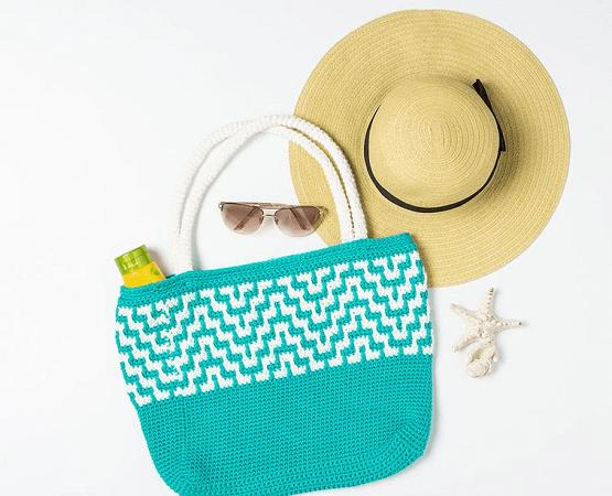 Mosaic Crochet Tote Bag Pattern by We Crochet