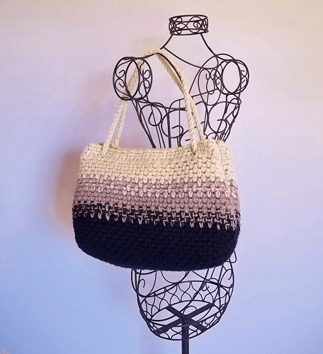 Ombre Tote Bag Crochet Pattern by The Hook Hound