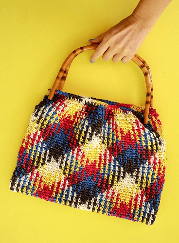 Planned Pooling Crochet Tote Bag Pattern by My Poppet Makes