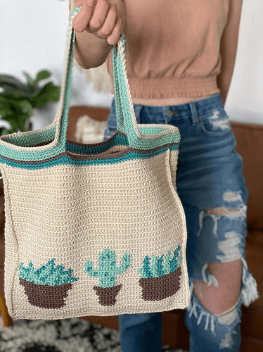 Plant Lady Tote Bag Crochet Pattern by Evelyn And Peter
