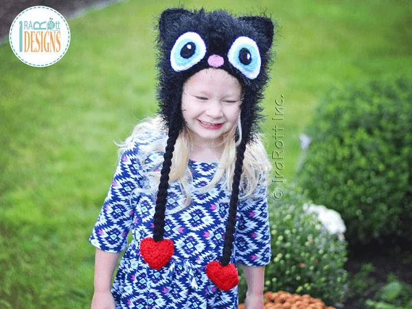Sassy, The Kitty Cat Furry Hat Crochet Pattern by Ira Rott