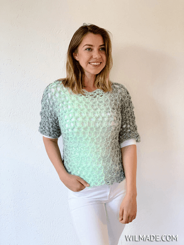 Simple Crochet Tshirt Pattern by Wilmade