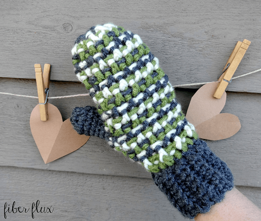 Sleigh Ride Mittens Free Crochet Pattern by Fiber Flux
