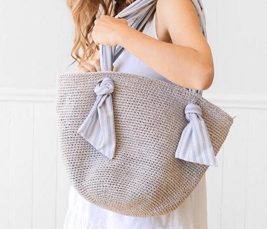 Spencer Market Bag Crochet Pattern by Lakeside Loops