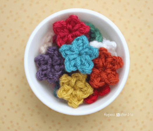 Teeny Tiny Crochet Stars Pattern by Repeat Crafter Me