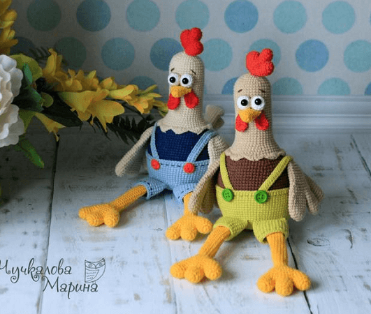 The Cock And The Hen Amigurumi Crochet Pattern by My Cro Wonders