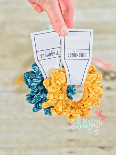 Velvet Scrunchie Free Sunflower Crochet Pattern by Ekay G Crafts