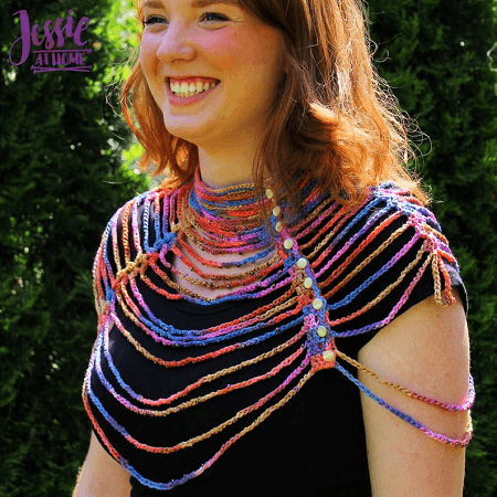 Waterfall Necklace Crochet Pattern by Jessie At Home