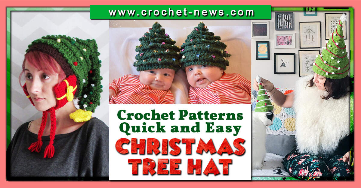 10 Crochet Christmas Tree Hat Patterns Quick And Easy Crochet News