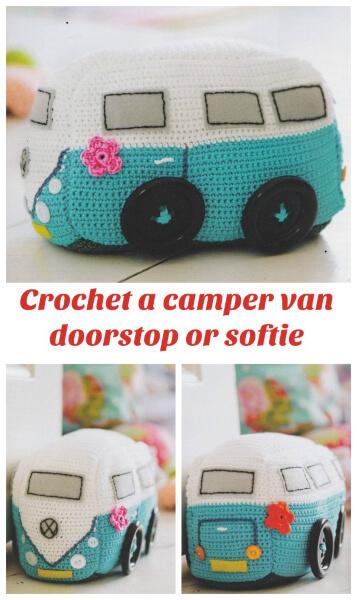 Crochet Doorstop VW Camper Pattern By Emma Varnam
