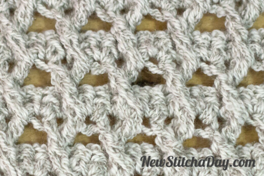 crochet crossed ripple stitch