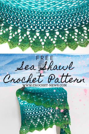 Free Sea Shawl Crochet pattern