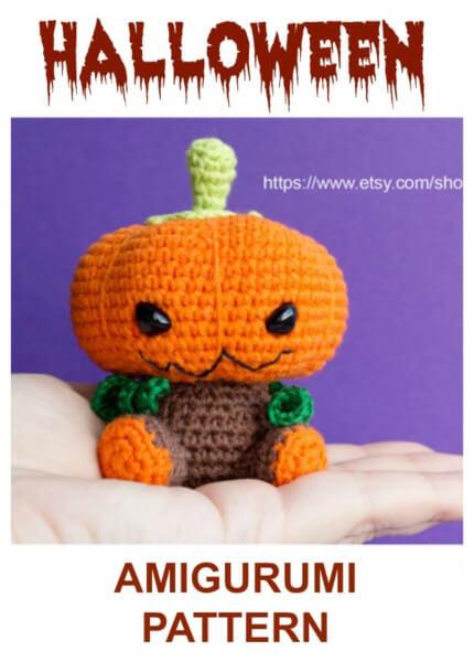 Halloween Pumpkin Crochet Amigurumi