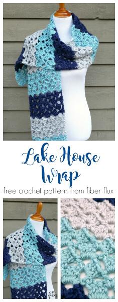 Lake House Crochet Wrap Pattern by Jennifer Dickerson