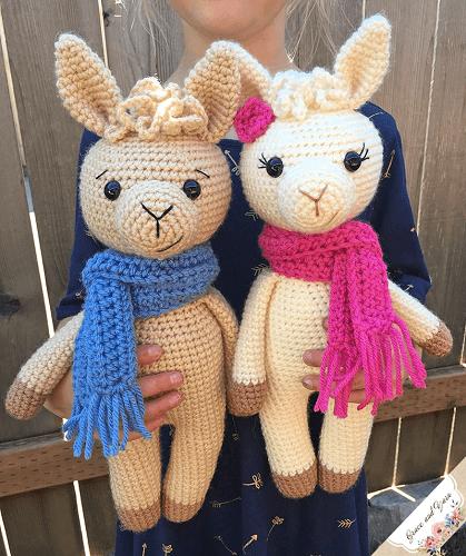Amigurumi Llama Free Crochet Pattern by Grace And Yarn