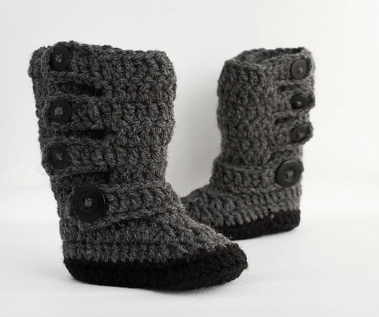 Baby Moto Boots Crochet Pattern by Baby Buttercup