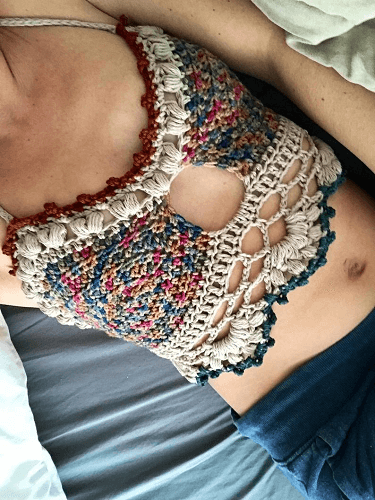 Boho Bliss Bralette Top Crochet Pattern by Cozy Creative Crochets