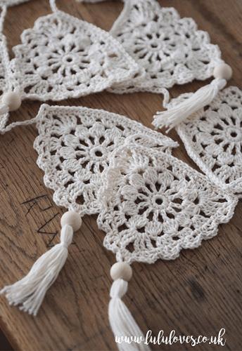 Boho Bunting Crochet Pattern by Lulu Loves UK