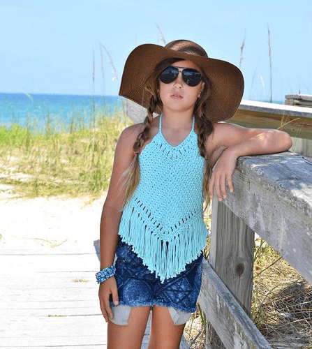 Boho Crochet Top Pattern by Crochet Garden