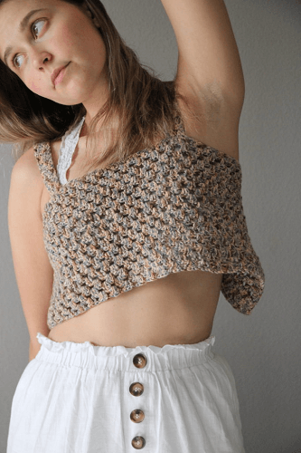 Boho Festival Crop Top Crochet Pattern by Brittany Alice Crochet