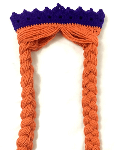 Crochet Anna Crown With Hair Pattern by Yarn Hook Needles