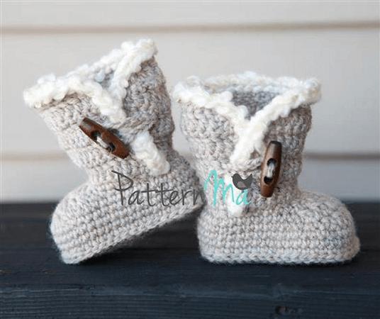 Crochet Baby Boots Pattern by Pattern Ma
