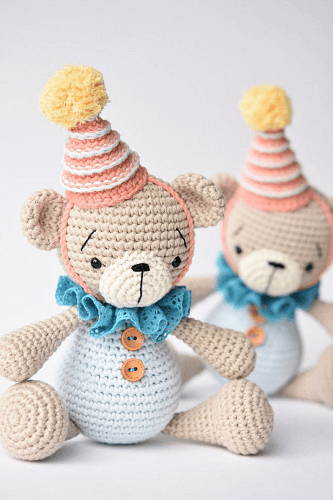 Crochet Bear Amigurumi Pattern by Lilleliis