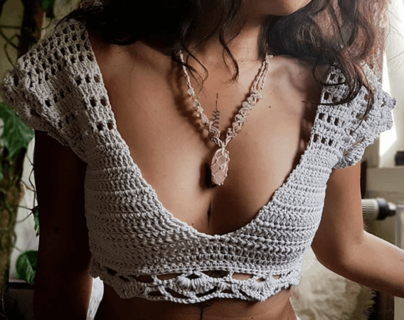 Crochet Boho Top Pattern by Maya Luna Corazon