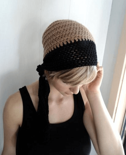 Crochet Cloche Chemo Hat Pattern by Life In Small Spaces