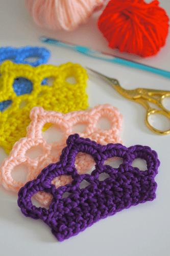 Crochet Crown Applique Pattern by Sarah London