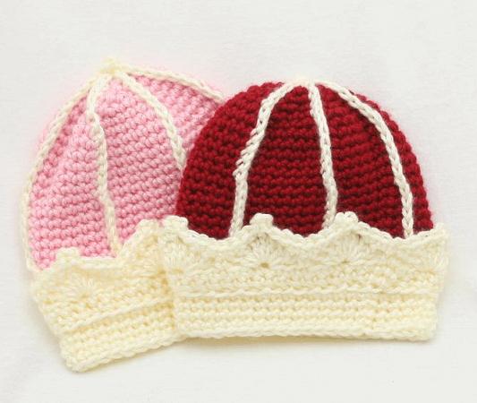 Crochet Crown Hat Pattern by Knitsy Crochet