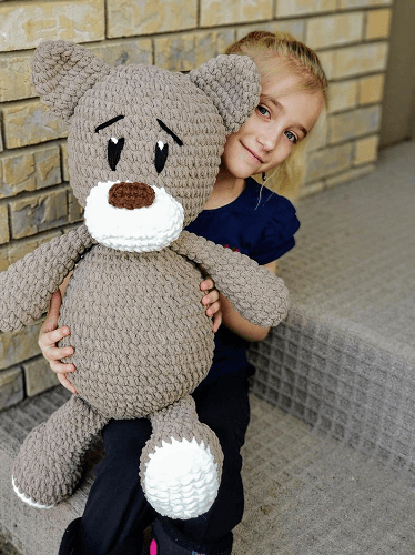 Crochet Cuddly Big Bear Pattern by Violets And Heather