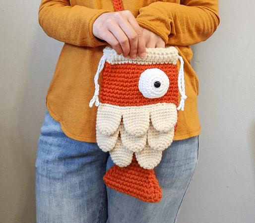 Crochet Fish Bag Pattern by Hello Happy
