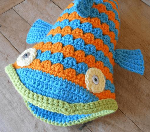 Crochet Fish Hat Pattern by Salowicious