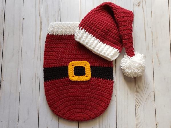 Crochet Santa Baby Cocoon Pattern by The Yarn Conspiracy