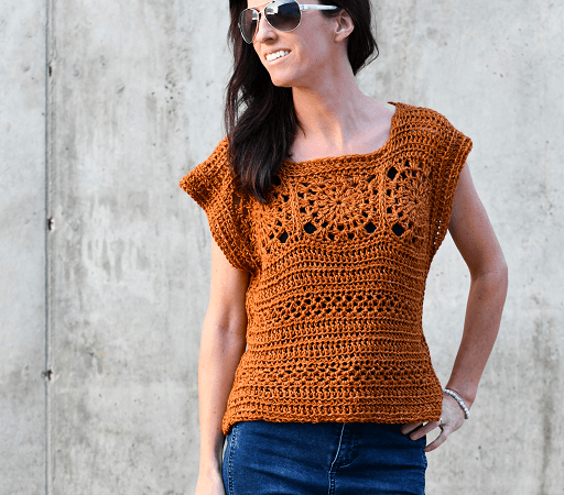 Crochet Summer Boho Top Pattern by Mama In A Stitch