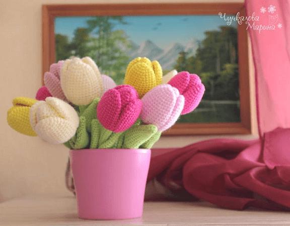 Crochet Tulip Pattern by My Cro Wonders