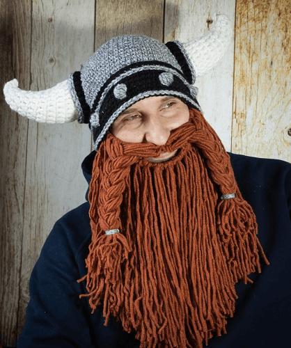 Crochet Viking Hat With Beard Pattern by Amusing Crochet Hats