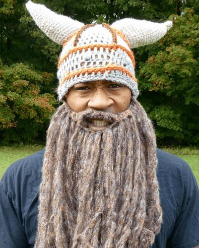 Crochet Viking Helmet Hat Pattern by Traverse Bay Crochet