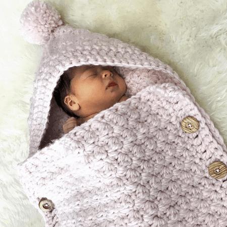 Easy Baby Cocoon Crochet Pattern by Deborah O Leary Pattern