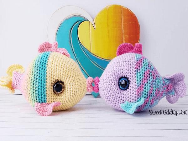 Fish Crochet Pattern by Sweet Oddity Art