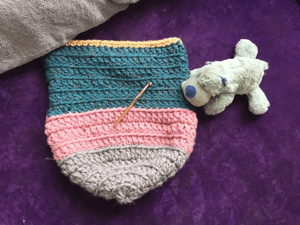 Free Crochet Baby Cocoon Pattern by The Spruce Crafts