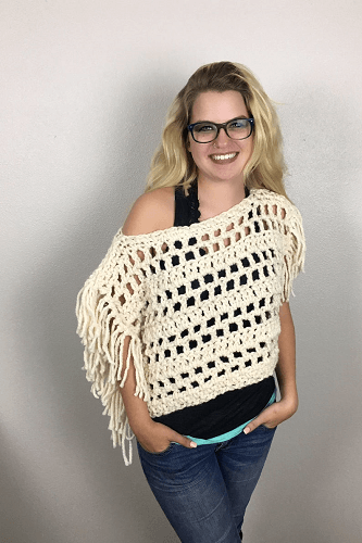 Fringed Boho Top Crochet Pattern by Made With A Twist