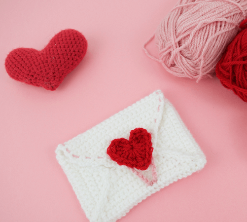 Love Letter Envelope Crochet Pattern by Knot Bad Ami